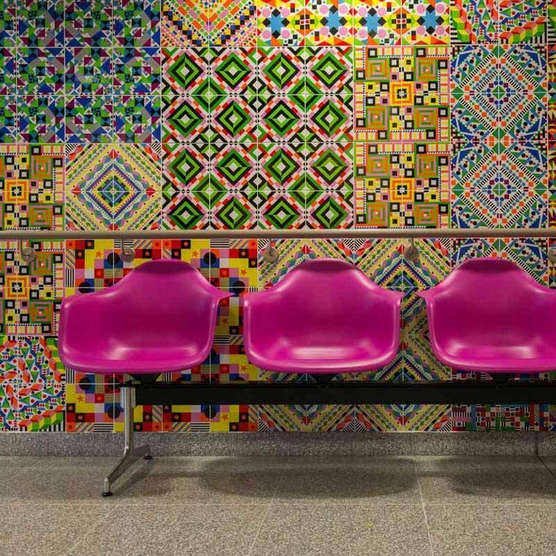 tiled artwork london hospital