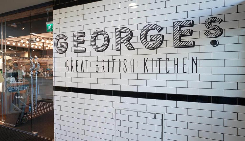 Georges Great British Kitchens wall signage