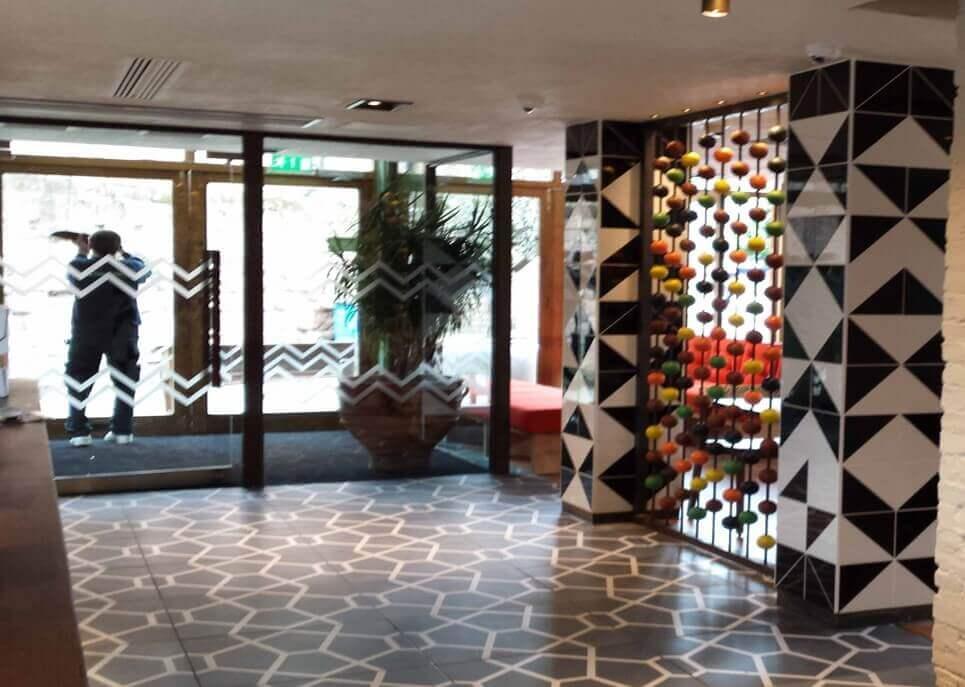 Nandos entrance floor tiles