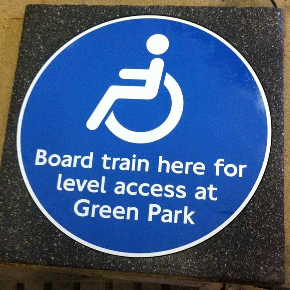 London Underground custom signage
